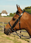 Heritage English Leather Bridle inc Reins, Raised and Padded Nose & Browband