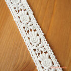1 metre: Lace Trim with Roses Off-white Doll Dress Craft Sewing