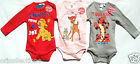 BN** OFFICIAL DISNEY*CHARACTERS LONG SLEEVE ROMPER SUITS-TIGGER,LION KING&BAMBI*