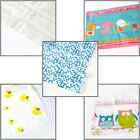 Shower Curtain Standard Size 180cm Polyester PEVA With Hooks