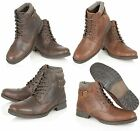 MENS REAL LEATHER CLASSIC TOE CAPE MILITARY BOOTS CASUAL BOYS  ANKLE SHOES SIZE