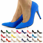 WOMENS HIGH HEEL ANKLE STRAP POINTED COURT SHOES LADIES HI FASHION PUMPS UK SIZE