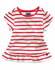 SALE/REDUCED *BNWT*Joules Girls Meadow Peplum Top Red Cream Stripe Striped Top