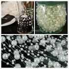 2/5/10/20m Pearl Beads Garland DIY Wedding Bouquet Party Craft Table Decorations