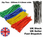 200- Medium -  Plastic, Cable ties, Zip ties, Tie Wraps, Cable tidy, Coloured