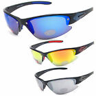 Mens Eyelevel UV400 Sunglasses Sports Wrap Around Cycling Skiing Ski Dark Mirror