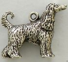 Afghan Hound Dog 3D Necklace w/Charm Jewelry ~ .925 Sterling Silver Metal
