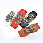 Fashion women retro adjustable Flower Elastic Buckle Wide Waistband Waist Belt