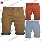 Mens Summer Designer Casual Brave Soul Roll Up Chino Jeans Chambray Shorts Pants