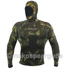 Wetsuit Shirt Spearfishing Green Camouflage - MAKO Spearguns