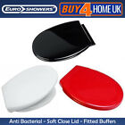 Euroshowers PP Opal Toilet Seats - Anti-Bacterial Soft Close - Red, Black, White