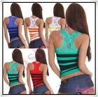 Ladies Lace Top Sexy Womens Summer Party Clubbing T-Shirt New Size 10/12,14 UK