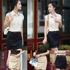 Womens Fitted Business Knee Long Slimming High Waist Office Pencil Skirt