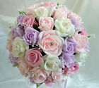 Wedding Flowers/Bouquets  sweet pea colours with pearl loop sprays