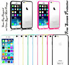 Clear Back Silicone TPU Bumper Case Cover For iPhone 5 5S , 5C ,4 4S