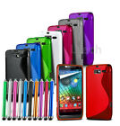 Mobile Phone S Line Gel Skin Skin Case Cover, Touch Screen Stylus Pen & SP