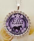 Personalised girls necklace jewellery horse riding school birthday gift present