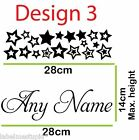 Sm. Custom Name Wall Stickers 10 designs Boys Girls Personalised Butterfly star