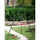 GRILL ON A TRIPOD MADE STAINLESS STEEL BARBECUE OUTDOOR GARDEN GRATE