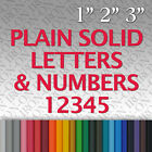 Iron-on Name Text Plain Solid Letters Numbers Vinyl Fabric T-Shirt Transfer Hot