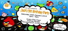 Personalised Childs Birthday Party invitations/invites ~ Angry Birds