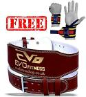 "EVO 6"" 4"" Pure Leather Gym Belts Weightlifting Straps Back Support Wraps Fitness"
