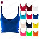 Womens Ladies Camisole Celebrity Wrap Cross Over Strappy Boobtube Bralet Bra Top