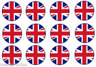 "UNION JACK - ENGLAND FLAG - 1"" INCH or 1.5"" INCH PRE CUT BOTTLE CAP IMAGES"