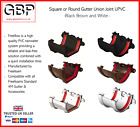 Gutter Union Joint Plastic UPVC Square or Round In Black  Brown and White