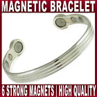 Magnetic bracelet EXTRA strong Chrome plated copper magnet health therapy bangle