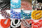 NEW 50/80pcs Round Faceted Crystal Glass Findings Loose Beads U Pick
