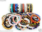 Handmade 10mm Natural Gemstone Round Beads Stretchy Bracelet Healing Reiki