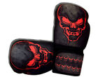 WOLDORF USA Sparring Washable Boxing Gloves Black/Red Skull Digital Design
