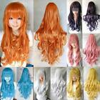 80cm 32in. Heat Resistant Long Full Wig Wavy Curly Cosplay Anime Wig 13 Color