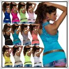 Ladies Top Sexy Womens Summer Party Fashion Lace T-Shirt ONE SIZE UK 6,8,10