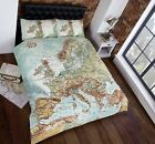 Vintage Maps Duvet Set