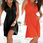 Women Summer Holiday Casual Elegant Short Beach Dress Sexy Sleeveless Sundress