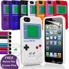 Gameboy Silicone Case Cover Skin Screen Film For iPhone 5/5S 4S/4 iPhone 6 (4.7)