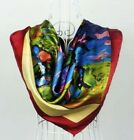 """Womens  Girl  Beauty Classical VINTAGE AUTHENTIC  35"""" 100% Silk Scarf Square"""
