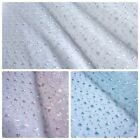 Embroidered Organza Fabric with Scalloped Edge - 4 Colours *Per Metre*