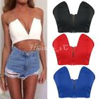 SEXY WOMENS CELEB PARTY V-NECK BRALET CROP TOP LADIES BOOBTUBE BRA VEST TOP HC