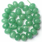 12x18mm Natural Mixed Color Jade Faceted Rondelle Shape Gems Beads Strand 15""