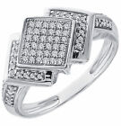 Women's SOLID 10k Gold 1/3 CT Diamond Engagement Band Anniversary Promise Ring