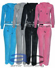 NEW WOMEN'S / GIRLS HOODIE VELOUR TRACKSUITS TOP JOG JOGGING BOTTOM / TROUSERS