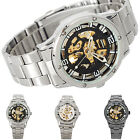 Luxury Sport Transparent Steel Skeleton Analog Automatic Mechanical Mens Watch