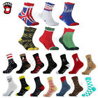 Men Women Jaw Shark Owl Bike Street Fashion Crew High Cotton Skateboard Socks