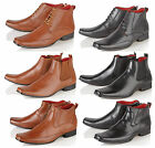 MENS ITALIAN LEATHER LINED FORMAL CASUAL CHELSEA ANKLE BOOTS BOYS SHOES SIZE