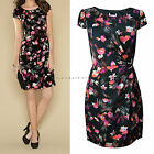 New Monsoon size 8 - 22 Polly Print Black Red Floral Vintage Party Shift Dress