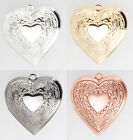 Heart shaped engraved locket, various neck chain options