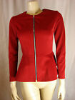 Topshop Red Scuba Peplum Jacket Sizes 6 8 10 12 14 16  (Brands)